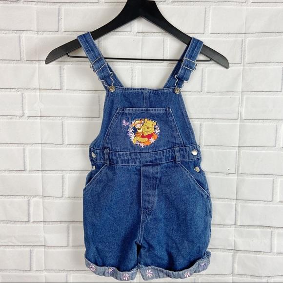 Disney Other - Disney Winnie the Pooh kids overalls shorts 6/6x